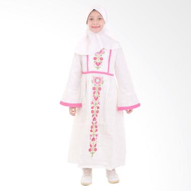Jesca and Paul Milea 221 Gamis Baju Muslim Anak - White