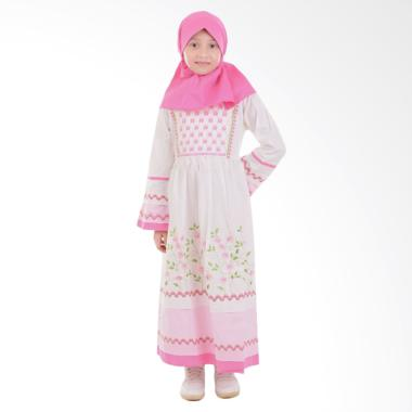 Jesca and Paul Olivia 226 Gamis Baju Muslim Anak - White