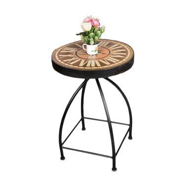 Pine Rotan Vanity Table - Coklat
