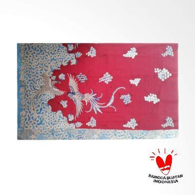 7Kav Batik Motif Burung Kain Batik Tulis - Merah