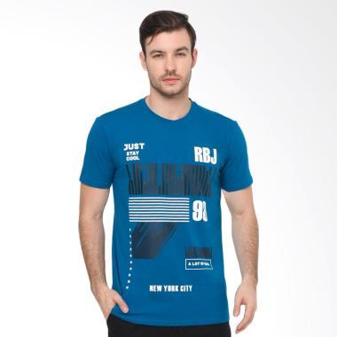 RBJ Obl T-Shirt Pria - Biru [255870191]
