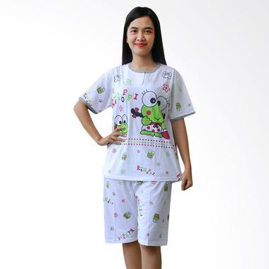 Aily AB10 Motif Keroppi Setelan Baju Tidur Wanita