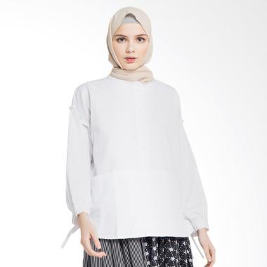 Delarosa Duo Ruffle Tunik Baju Muslim Wanita