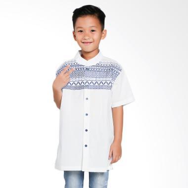 Versail Kids Bordir Motif Kotak Pundak juenes Baju Koko Anak
