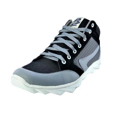 Aluz Sneaker Boot Sepatu Pria - Black Grey [Nfl 185]
