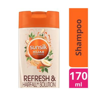 SUNSILK Hijab Refresh & Hairfall Solution Shampoo [170 mL]