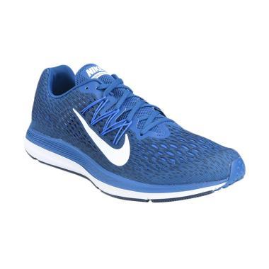 NIKE Men Running Zoom Winflo Sepatu Lari Pria - Blue  5 AA7406-400  fa762493d0