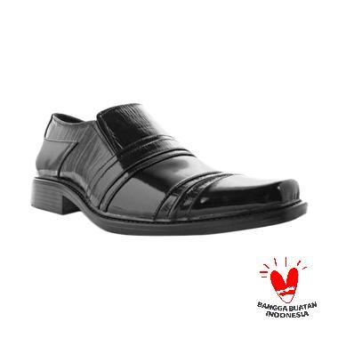 Wonder Kulit Sepatu Pantofel Pria - Hitam [Original]