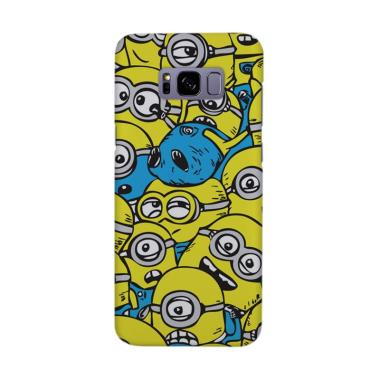 Indocustomcase Cartoon Crowded Minion Cover Casing for Samsung Galaxy S8 Plus