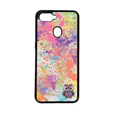 harga HEAVENCASE Motif Burung Owl Cute Paint Softcase Casing for Oppo F9 or F9 Pro - Hitam Blibli.com