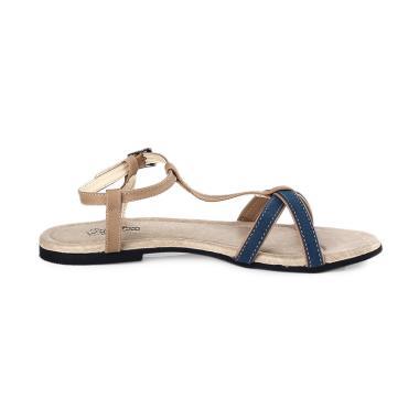 Kuzatura KKF 893 Sandal Flat Wanita - Krem