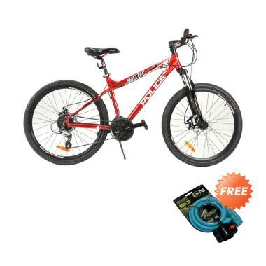 harga Element Police Seatle Mountain Bike Sepeda MTB - Red + Free Kunci 2515 Blibli.com