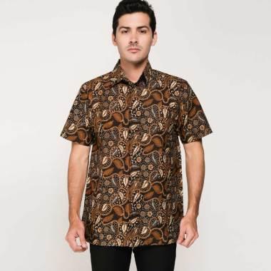 harga Chugbog in style Kemeja Batik Pria - Black/Brown Blibli.com