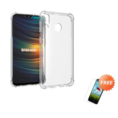 OEM ShockProof Casing for Samsung Galaxy M20 6.3 Inch - Clear + Free Tempered Glass