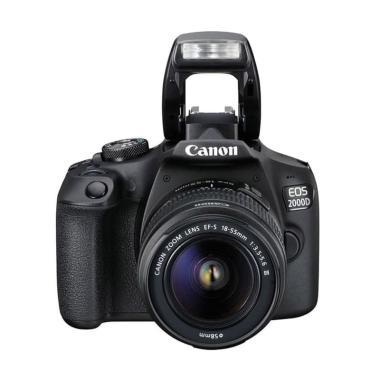 harga FS - Canon EOS 2000D Kit 18-55MM III Kamera DSLR Black Blibli.com