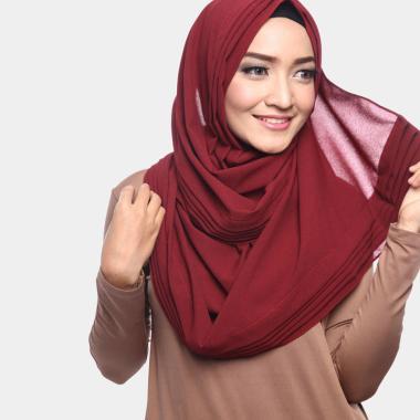 harga Cotton Bee Alena Pashmina Instan Wanita - Berry Red Blibli.com