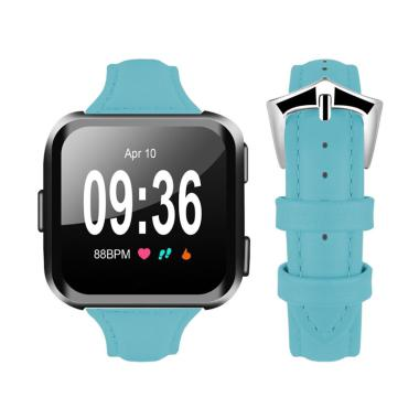 Bluelans Genuine Leather Replacement Buckle Wrist Band Smart Watch Strap for Fitbit Versa