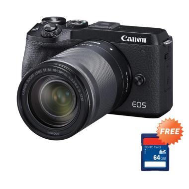 harga Canon EOS M6 Mark II Mirrorless Digital Camera [Pre Order/ Kit 18-150mm] + + Free Memory SDHC 64 GB Blibli.com