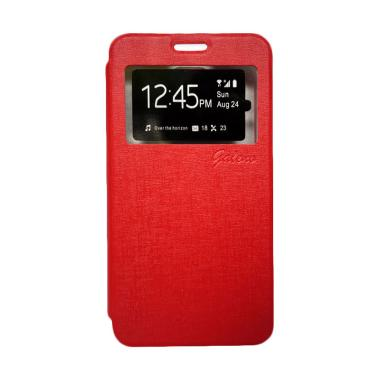 Galeno Flip Cover Casing for Oppo F1 - Merah