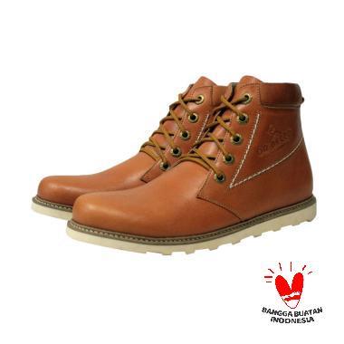 Handmade Dr Becco Vector Sepatu Boot - Tan