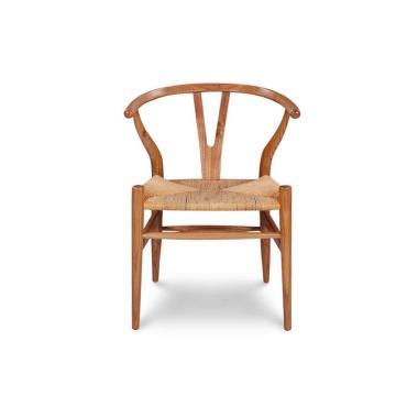 Ivaro Wishbone Chair Kursi - Solid Wood