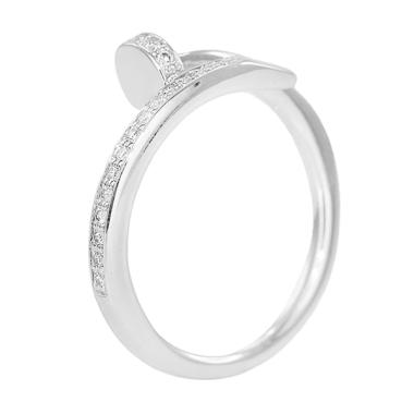 Lino P1511200001 Emas Putih Cincin Berlian [18 K]