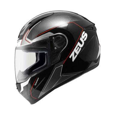 Zeus ZS-811 Helm Full Face - Black/AL6 Red