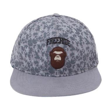 FREERIDE Grey Camo Kong Snapback - Grey