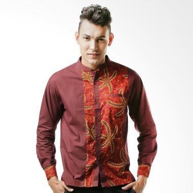 Aitana Koko Batik BTK-AN-1510117-LS Baju Muslim Pria - Maroon