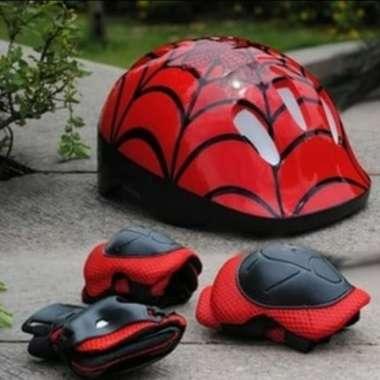 harga Helm sepatu roda anak/sepeda anak spiderman Ukuran Anak-anak Merah Blibli.com