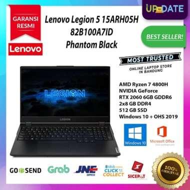 Lenovo Legion 5 15ARH05H - A7ID - Gaming Laptop - [AMD Ryzen 7 4800H / 2x8GB DDR4 / 512GB SSD / 15.6 Inch FHD / WIN 10 + OHS 2019] Phantom Black