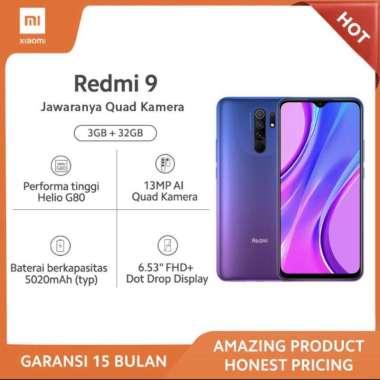 harga XIAOMI Redmi 9 3GB+32GB - 13MP Quad Kamera Helio G80 Layar 6.53 FHD+ Baterai 5020mAh Garansi Resmi - Sunset Purple Blibli.com