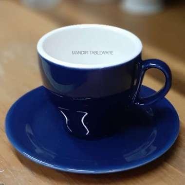 harga CANGKIR SET CAPPUCINO / LATTE CUP / COFFEE MUG 6 pcs Blue Navy Blibli.com