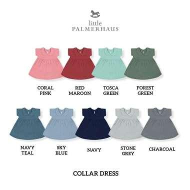 harga Little palmerhaus collar dress (dress anak) 0-6 bulan forest green Blibli.com