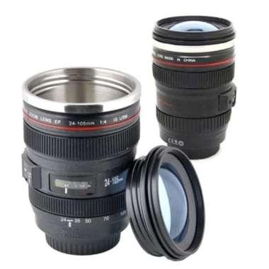 harga Gelas Mug Lensa Kamera Canon EF 24-105mm - Gelas Lensa Kamera B267 hitam Blibli.com