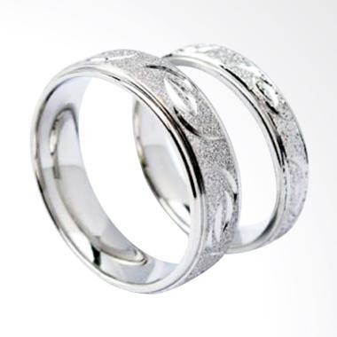 CDHJewelry Titanium Anti Karat CC020 Cincin Couple [Female 5 & Male 7]