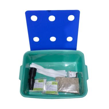JIRIFARM Paket Starterkit Hidroponik Sistem Wick 9 Lubang Tanam