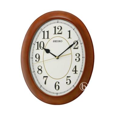 SEIKO QXA664B Quiet Sweep Wooden Wa ... m Dinding - Brown [35 cm]