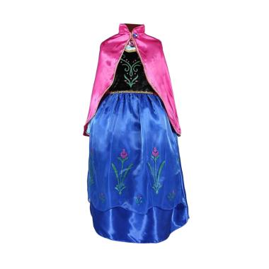 Frozen Princess Anna Jubah Merah Dress Kostum