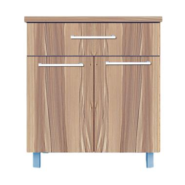 Kirana Furniture BCM 912 Kitchen Set Lemari Bawah - Olive [2 Pintu]