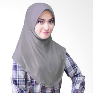 Milyarda Hijab Bergo Jersey Jilbab Instan - Abu Tua