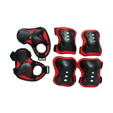 TSH Pelindung Lutut dan Tangan Anak Deker Sepatu Roda - Merah