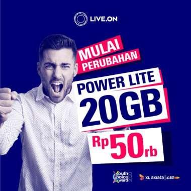 harga Kartu Perdana XL Live.On Power Lite 20GB (14 hari) Blibli.com