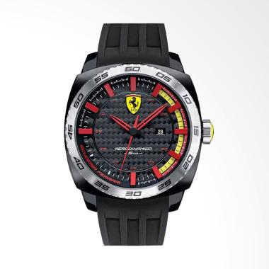 Scuderia Ferrari Rerodinamico Jam Tangan Pria - Hitam FERRARI 0830201