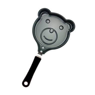 Nonstick Karakter Beruang Mini Frying Pan - Hitam