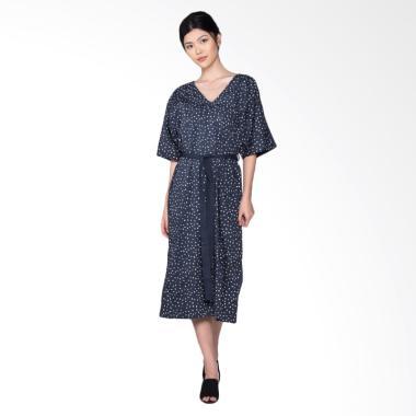 POP.U by Populo Batik Beras Utah Caftan JW5701 Dress - Blue