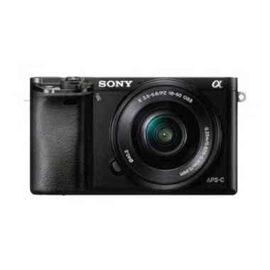 Mirrorless Digital Camera SONY Alpha A6000 KIT Lens 16-50MM Hitam