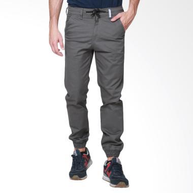 Oliveinch Basic Long Jogger Celana Pria - Grey