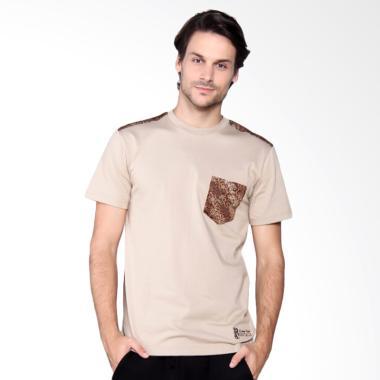Batik Heritage Camelia T-Shirt Pria - Cokelat