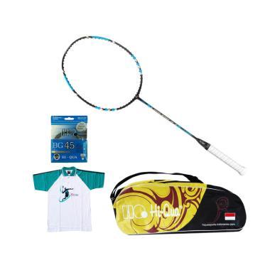Weekend Deal - Hi-Qua Paket Nano Speed 70 Peralatan Badminton [Senar BG45/Tas/Kaos]